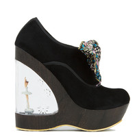 Irregular Choice Glissade Ballerina Wedge in Black