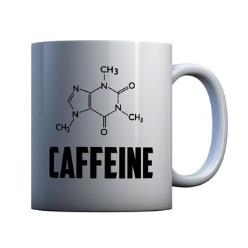 Caffeine Molecule 11 oz Coffee Mug Ceramic Coffee and Tea Cup