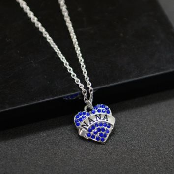 New fashion heart diamond necklace
