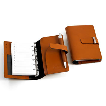 Agenda Book w/ Pen. Saddle Leather, T.P.