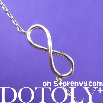 Classic Infinity Loop Promise Friendship Necklace in Silver | DOTOLY