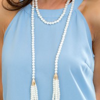 Double Take Pearl Necklace | Monday Dress
