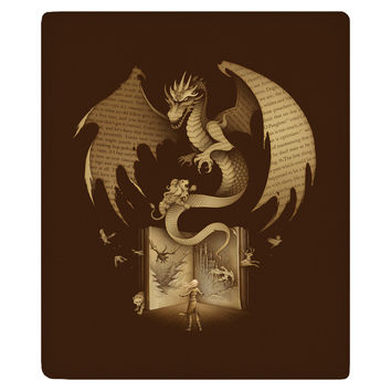 Mysterious Game of the Throne Fleece Throw
