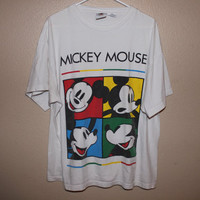 vintage 90s MICKEY MOUSE colorblock shirt by STRUNGGOUTT on Etsy