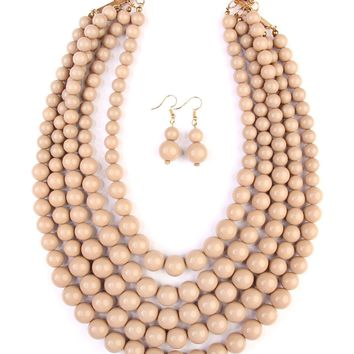 Bubble Multilayer Necklace Set
