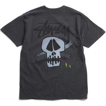 Surf Skull Pigment Dyed T-Shirt Black