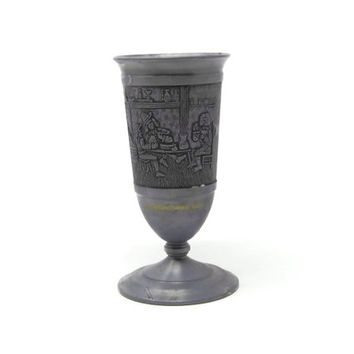 Alfred Fuss KG Embossed Pewter Goblet Made In Germany