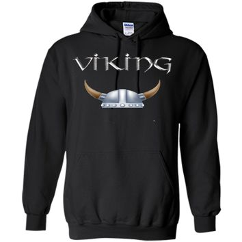Viking Horns Helmet T Shirt Scandinavian Swedish Norwegian