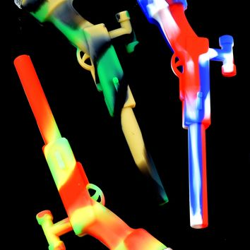 Silicone Rifle Pipe with Glass Bowl - P1548