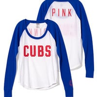 Chicago Cubs Long Sleeve Baseball Tee - PINK - Victoria's Secret