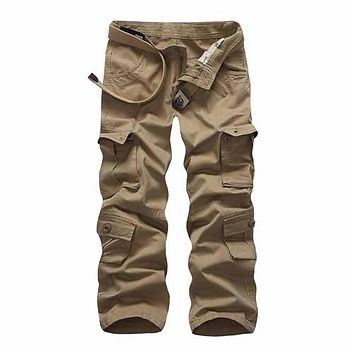 Men's Military Army Cargo Pants Casual Multi-Pocket Tactical Pants