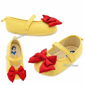 Licensed cool Snow White Costume Dress Up Baby SHOES SLIPPERS Disney Store 6-12  12-18 Months
