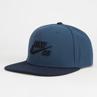 Nike Sb Icon Mens Snapback Hat Graphite One Size For Men 25784910701