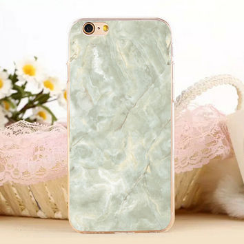 Green Marble Stone Protect iPhone 5s 6 6s Plus Case + Gift Box-131