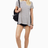 Striped In Tunic Tee