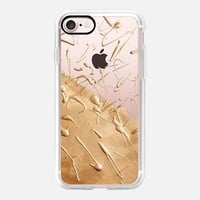 Rose Gold Rain (transparent) iPhone 7 Case by Lisa Argyropoulos | Casetify