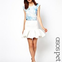 ASOS PETITE Skirt In Ovoid Texture at asos.com