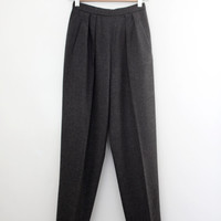 Vintage 90s DKNY Cashmere Wool Cigarette Leg Pants - High Waisted Ankle Length Trousers Pin Up Girl - Straight Leg Riding Pants - Size XS
