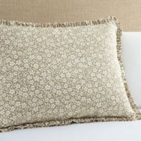 One Kings Lane - French Laundry - Small Floral Standard Sham, Tan/Cream