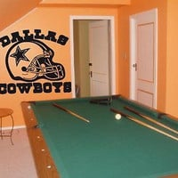 Dallas Cowboys Helmet NFL Wall art Sticker Decal 001