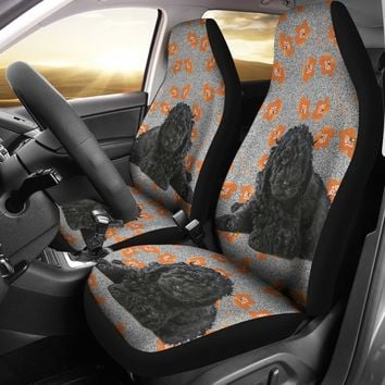 Barbet Dog Print Car Seat Covers-Free Shipping