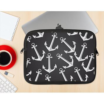 The Black Anchor Collage Ink-Fuzed NeoPrene MacBook Laptop Sleeve