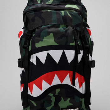 Sprayground Camouflage Shark Top Loader Backpack
