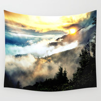 Sunrise mountains Wall Tapestry by 2sweet4words Designs
