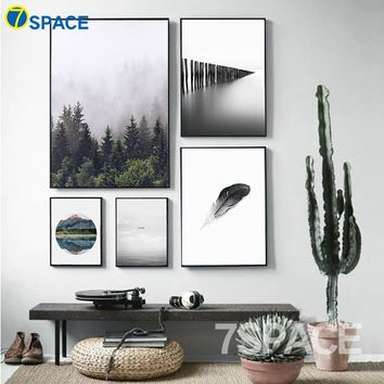 30*40cm Modern Landscape Decoration Painting Nordic Minimalism Wall Art Posters And Prints Wall Pictures For Living Room Decor