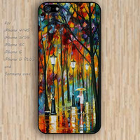iPhone 5s 6 case street lights watercolor love colorful phone case iphone case,ipod case,samsung galaxy case available plastic rubber case waterproof B663