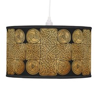 Celtic Knotwork Cross Hanging Pendant Lamp