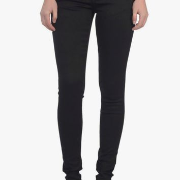 Anna Mid-Rise Pull-On Skinny in Black - Standard Fit