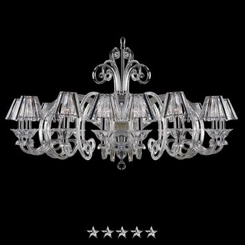 Chrome Clear Shade Glass Chandelier
