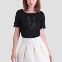 Tuileries Palace Textured Skirt