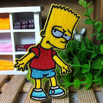 The Simpsons iron on patch applique 009 by happysupply on Etsy