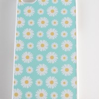 Teal and White Daisies Phone Case
