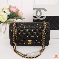 HCXX 19Aug 086 1112 Chain Shoulder Embossing Constellation pattern Flap Bag  size 25cm