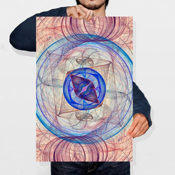 Abstract Geometric Print Fractal Art Nebula Print Galaxy Art Spiral Home Decor Pattern Poster Printable Digital Art