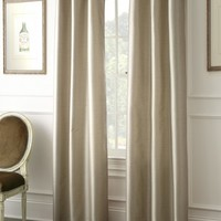 Faux Dupioni Black Out Curtains (Taupe)