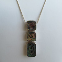 1990s Abalone Shell & Sterling Necklace