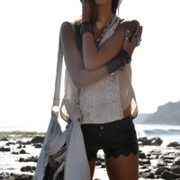 NATIVE NOMAD Weekend/Tote Boho Bag /// Bone, Black or Red /// Large Recycled Leather Fringe Tote Tribal Bag