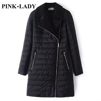 Women Parka Thick Warm Cotton Padded Black Mid Long Winter Quilted Jacket Coat Snow Wear Female Casual Outerwear 1014
