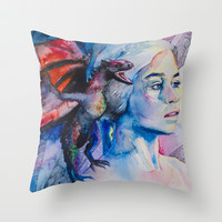 Daenerys Targaryen - game of thrones Throw Pillow by Slaveika Aladjova | Society6