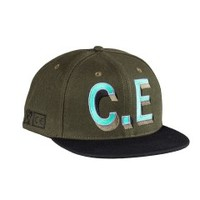 Cav Empt C.E. Strapback (Black/Green) - Accessories - Mens