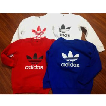 "Fashion ""Adidas"" Print Sweater Pullover Tops Sweater Sweatshirts (7-color)"