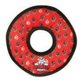 ICIKU7Q VIP Products Tuffy Ultimate Gear Ring Red Paws