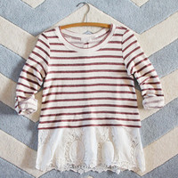 Swiftwater Lace Top in Burgundy