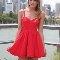 LADY LUCK DRESS , DRESSES, TOPS, BOTTOMS, JACKETS & JUMPERS, ACCESSORIES, SALE, PRE ORDER, NEW ARRIVALS, PLAYSUIT, COLOUR, GIFT VOUCHER,,CUT OUT,Red,BACKLESS,SLEEVELESS Australia, Queensland, Brisbane