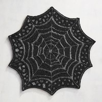 Beaded Spider Web Placemat
