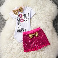 Girl Clothes Jumpsuit Newborn Baby Girl Romper Clothing Infant Girls Outfit Clothes Toddler Bodysuit+Pant Set